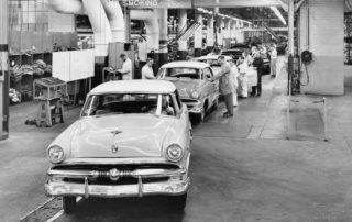 Quality checks on old auto manufacturing and auto repair assembly line