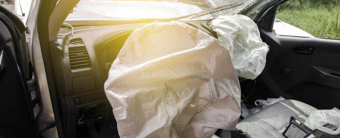 Airbags deployed in vehicle after collision